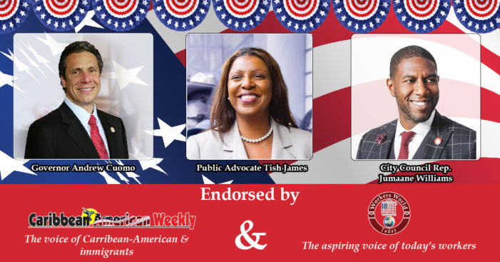 Workers World Today Endorses: Tish James, Jumaane Williams and Andrew Cuomo
